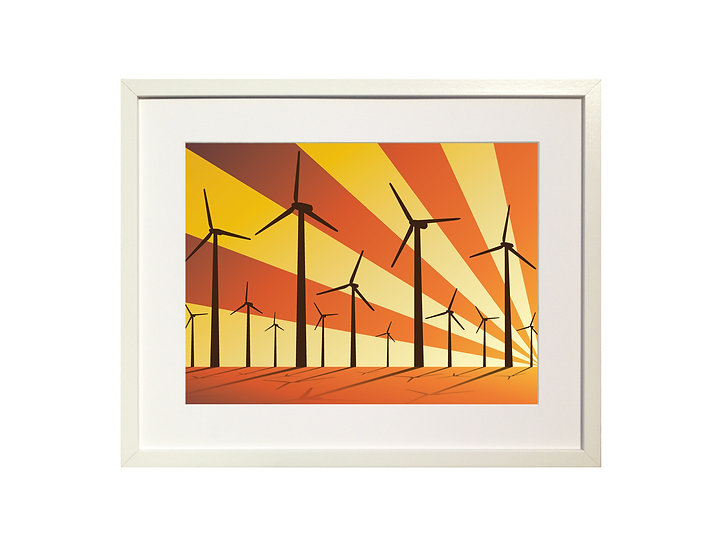 Orange 'Wind Farm' Limited Edition Print