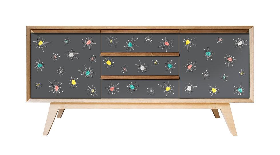 Grey Atomic Sideboard