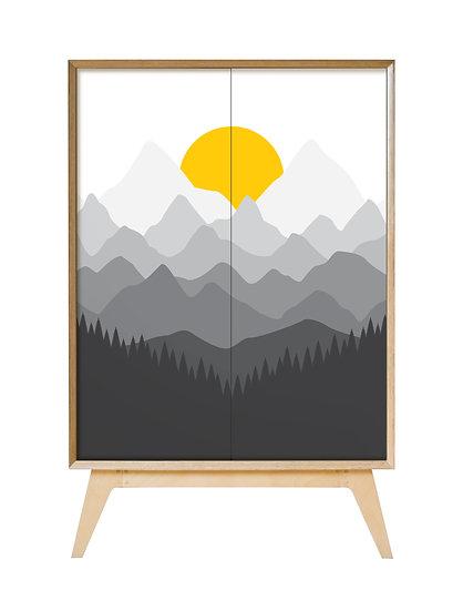 Mountain Sunrise Cabinet