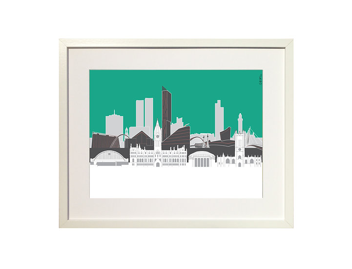 'Manchester Skyline' Limited Edition Print