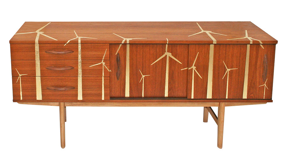 Gold Leaf 'Wind Farm' Sideboard