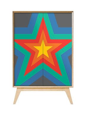 Rainbow 'Starburst' Cabinet
