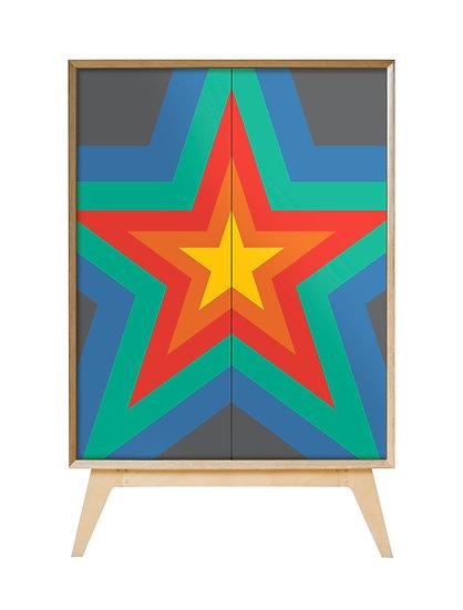 Rainbow Starburst Cabinet
