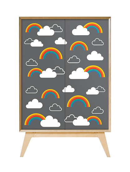 'Clouds with Rainbows' Cabinet