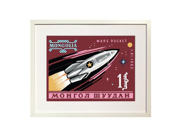 'Mars Rocket' Limited Edition Print