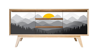 'Mountain Sunset' Sideboard
