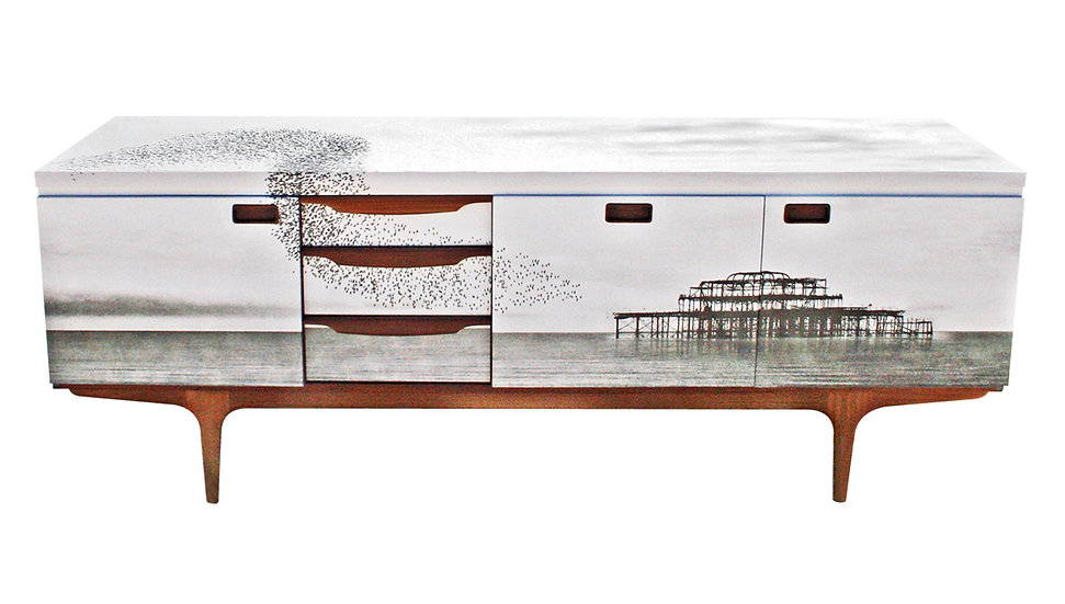 'Brighton Starlings' Mid Century Sideboard