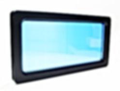 Carrés ou losanges en acier inox 290x290 mm avec verre de sécurité de 6 mm, translucides. Idéels pour faire une rangée verticale (un hublot par panneau), qui donne à votre porte un aspect très esthétique et moderne.