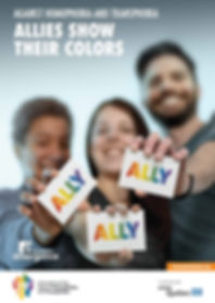 poster for International day against homophobia and transphobia 2016 : Allies show their colors