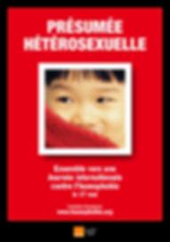 Affiche pour le 17 mai 2005, Journée internationale contre l'homophobie et la transphobie, présumé hétérosexuel