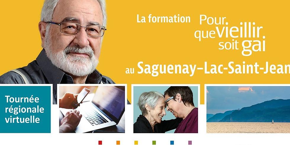 Formation-conférence Pour que vieillir soit gai : Saguenay-Lac-Saint-Jean