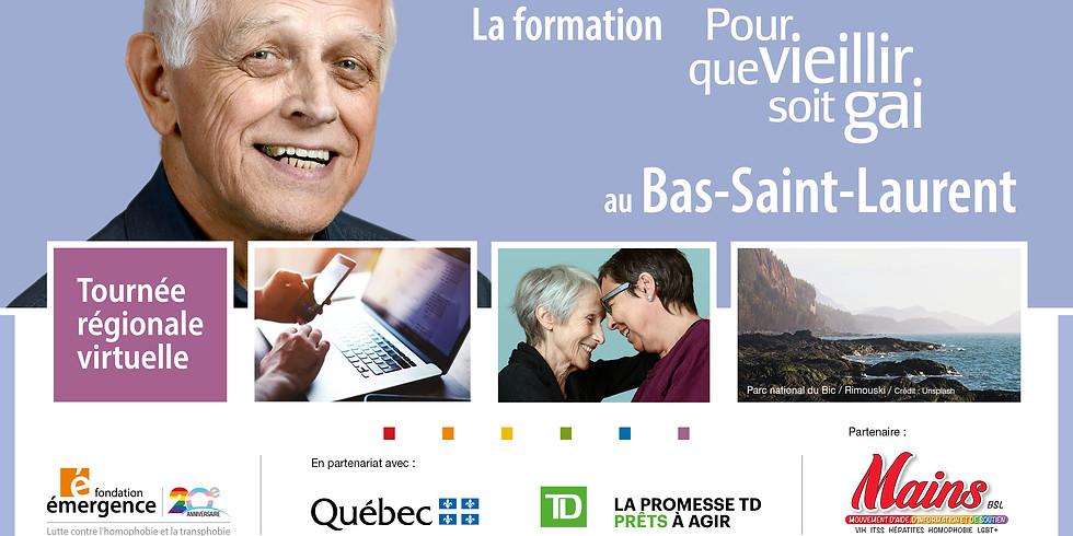 Formation-conférence Pour que vieillir soit gai : Bas-Saint-Laurent