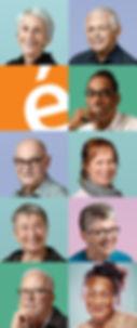Panneau de l'exposition Pour que vieillir soit gai sur les aînés LGBT, à louer gratuitement