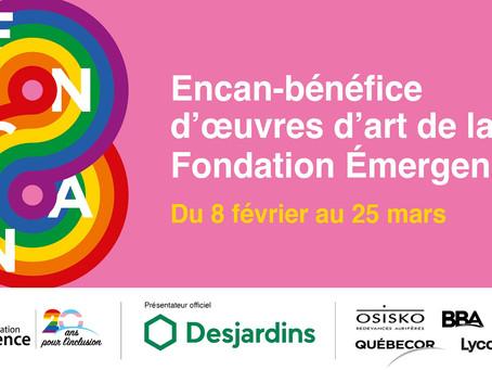Encan-bénéfice annuel d'œuvres d'art de la Fondation Émergence