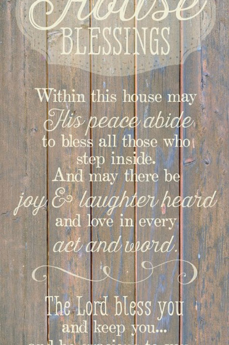 DX026 New Horizon Plaque - Bless This House
