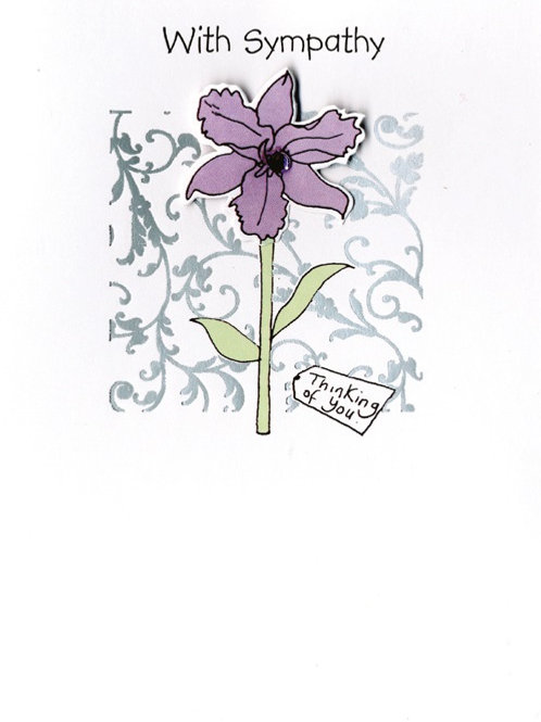 YT081 Sympathy (supplied in 6's - cost price 42p each inc vat)