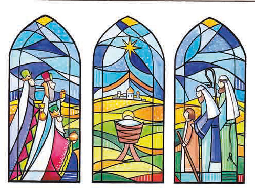 SR04 Stained Glass Nativity