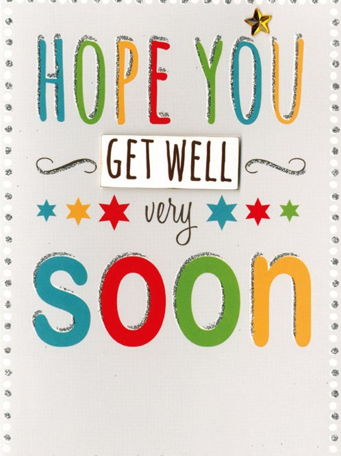 YT235 Get Well (supplied in 6's - cost price 42p each inc vat)
