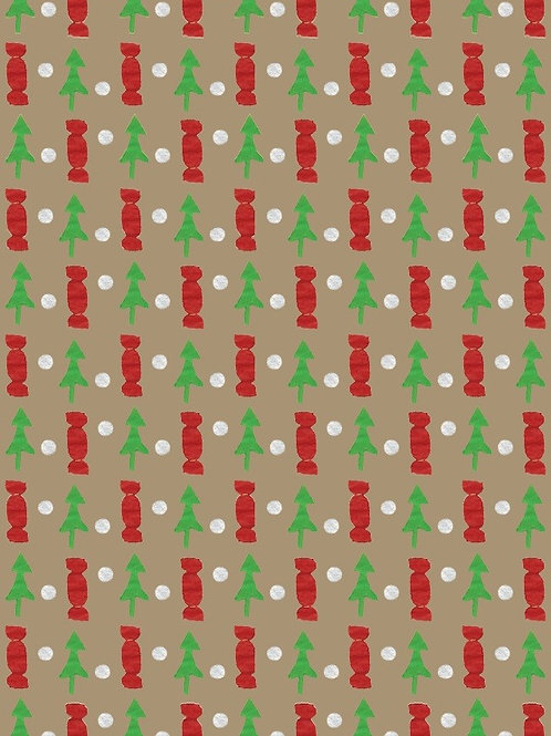 RHN17 Christmas Trees & Crackers Gift Wrap