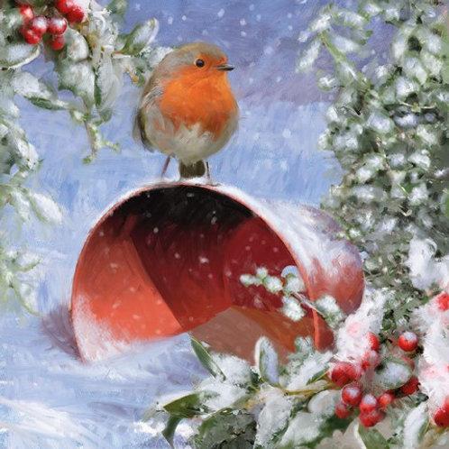 16107 Robin on a Flowerpot (cost price £1.75 inc vat RRP £3.50)
