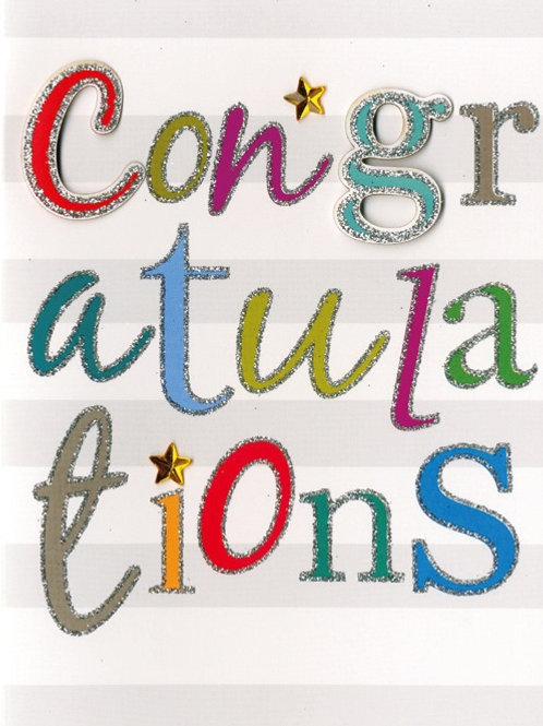 YT225 Congratulations (supplied in 6's - cost price 42p each inc vat)