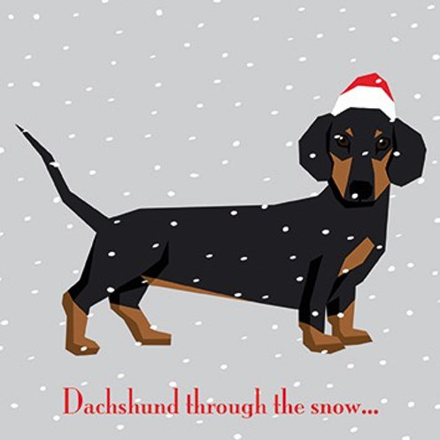 RHN17170 Dachshund Through The Snow