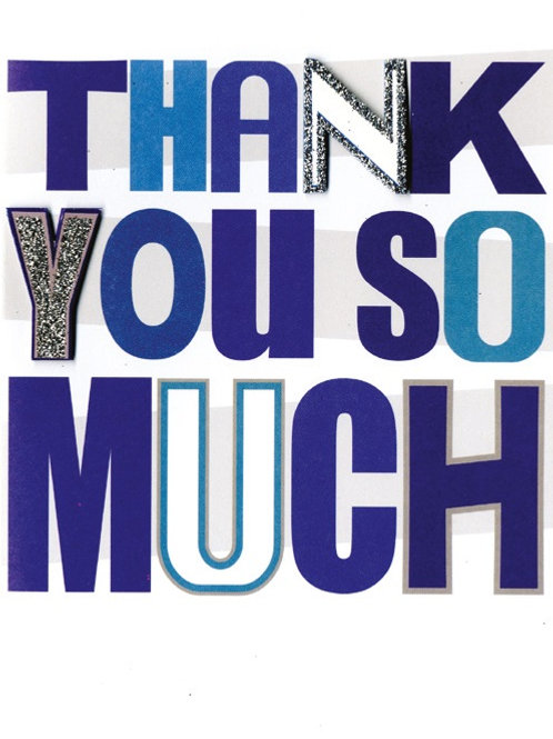YT110 Thank You (supplied in 6's - cost price 42p each inc vat)