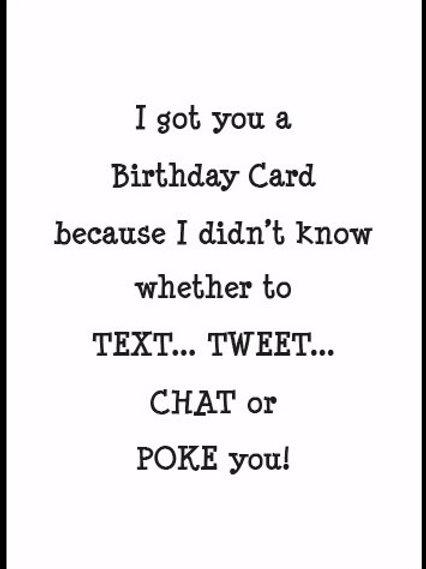 15022SW Text, Tweet, Chat or Poke...