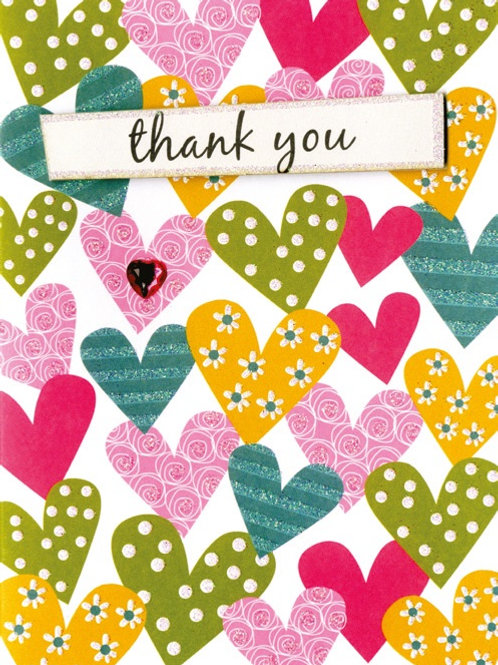 YT248 Thank You (supplied in 6's - cost price 42p each inc vat)