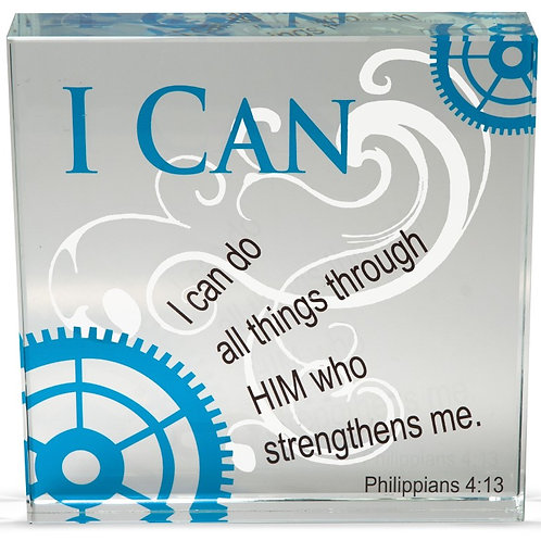AS001 'I Can' Glass Block