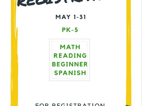 Pre-Registrations Begins May 1st