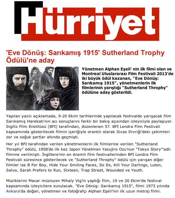 Hurriyet Newspaper Turkey