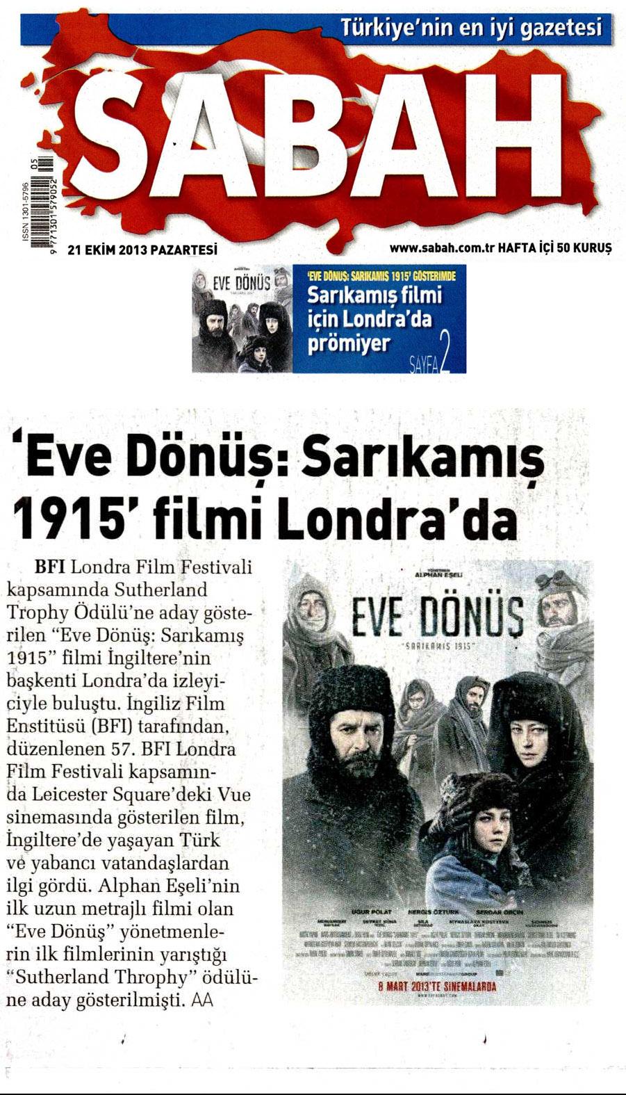 Sabah Newspaper Turkey
