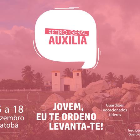 Movimento Auxilia realizará o Retiro Geral  da obra, entre os dias 16 e 18 de Dezembro.