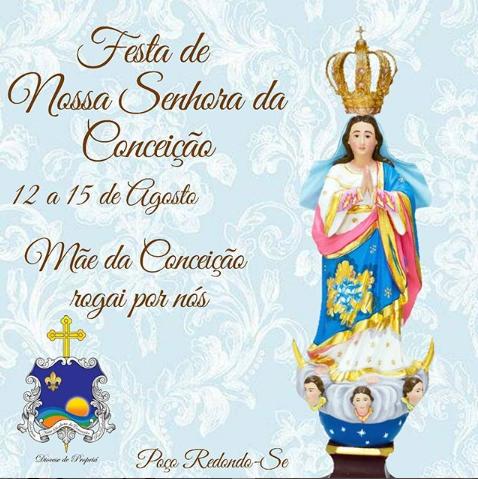 Festa e programação da  Padroeira Nossa Senhora da Conceição em Poço Rendondo