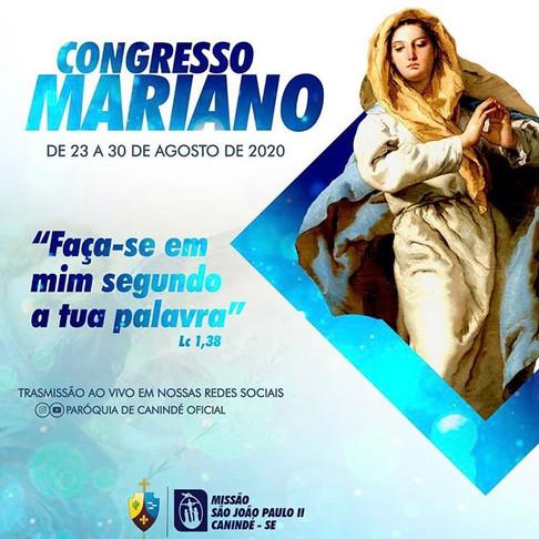 Congresso Mariano Online na Paróquia Nossa Senhora da Conceição, em Canindé de São Francisco