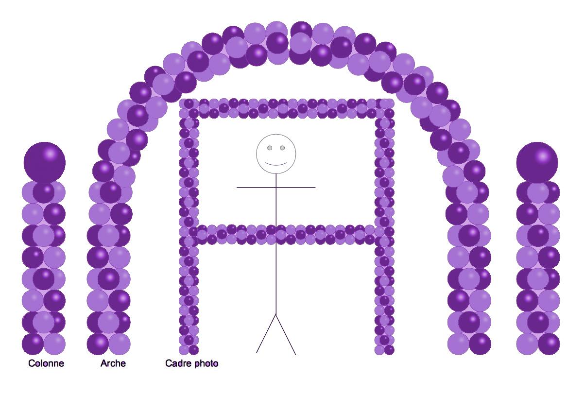 Balloon Party Decor - Duo de violets