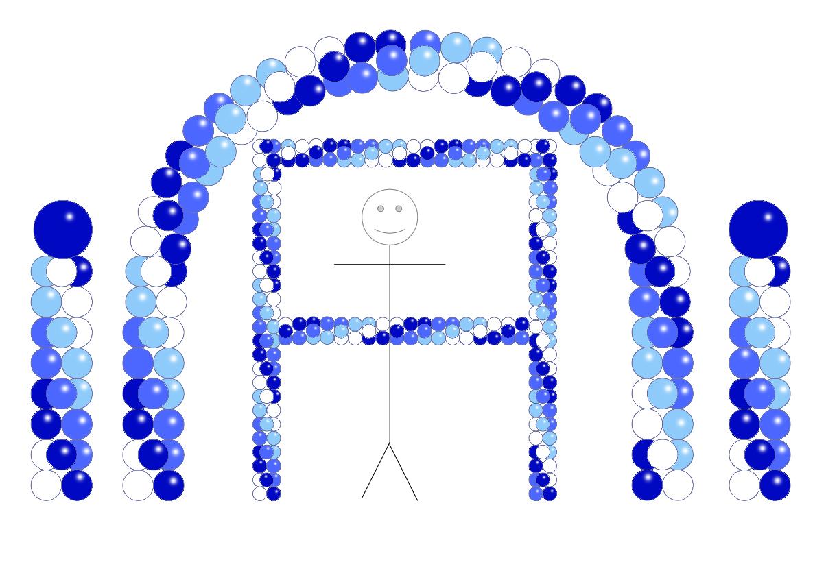 Balloon Party Decor - Blue JeSaisPlus PaleBlue WHite