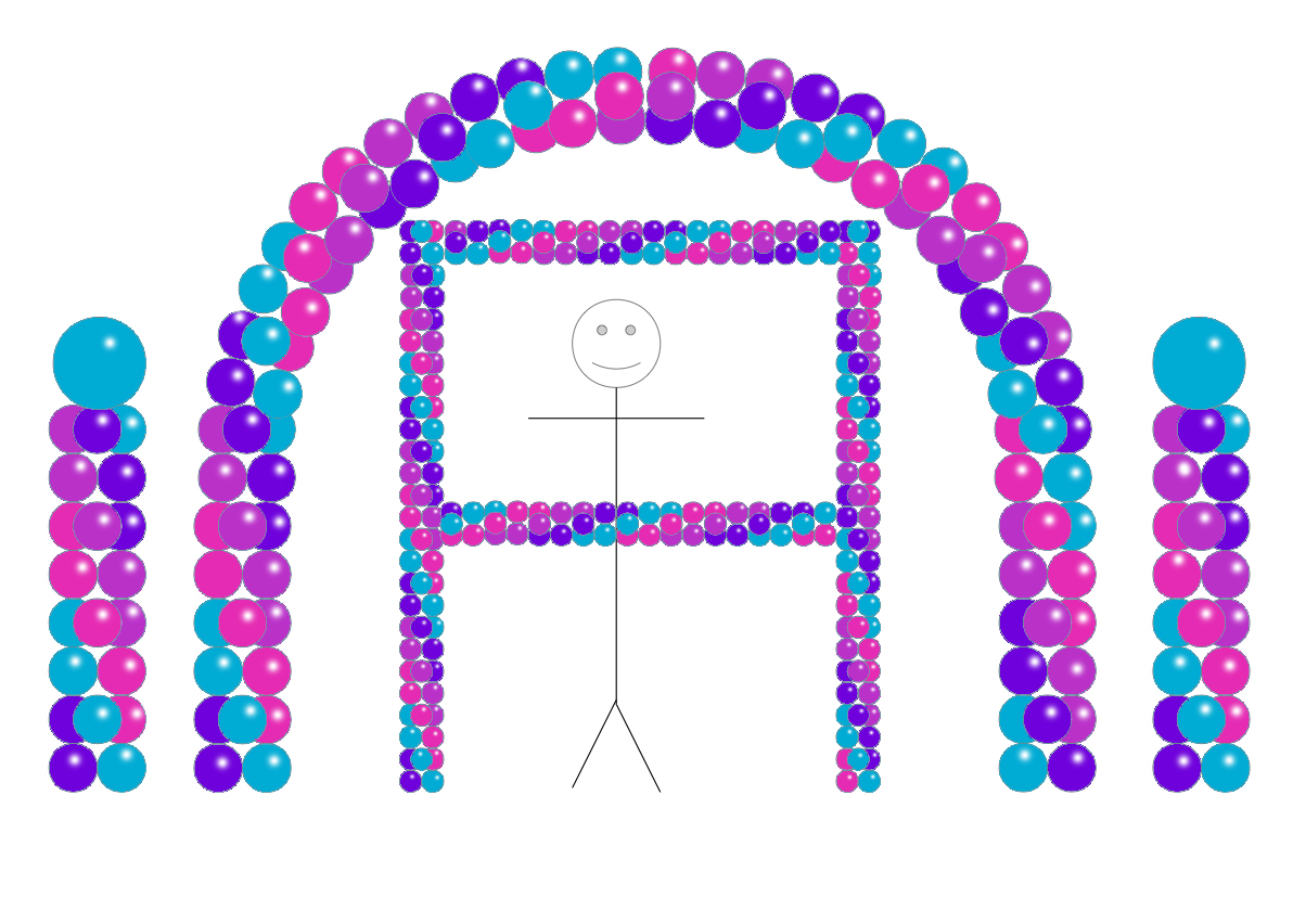 Balloon Party Decor - Purple Teal WildBerry Mauve
