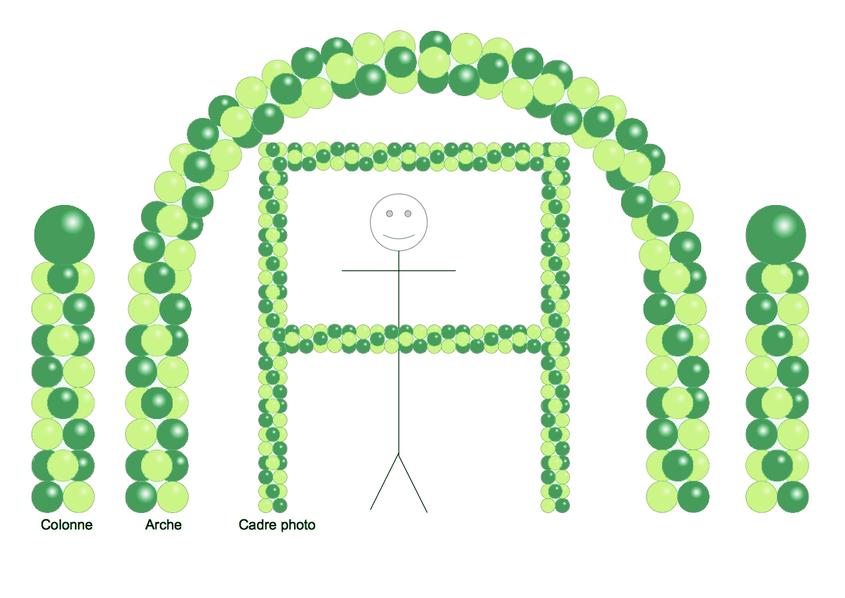 Balloon Party Decor - Green and LimeGreen