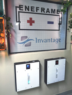 Batteries on Wall Invantage EneFrame