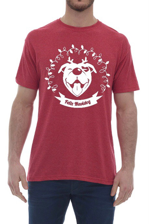 """Feliz Navidog"" Christmas Light Unisex T-shirt"