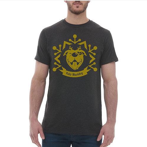 """Feliz Navidog"" Gold Snowflake Unisex T-Shirt"