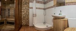 Sauna z prysznicem