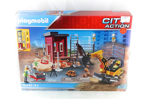 Playmobil Minibagger mit Bauteil