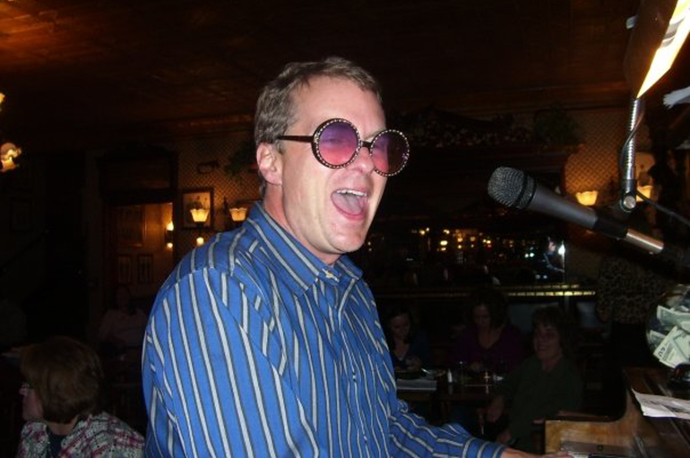 Dave as Elton