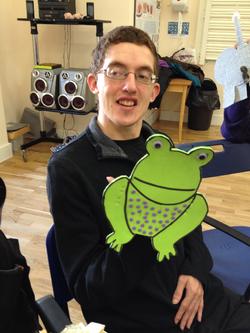 Stephen's Friendly Frog - rib-bit!