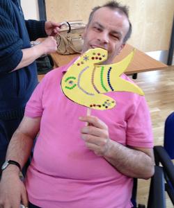 Paul and a rainbow fish!
