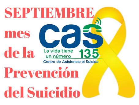 SEPTIEMBRE: Mes de la Prevención del Suicidio