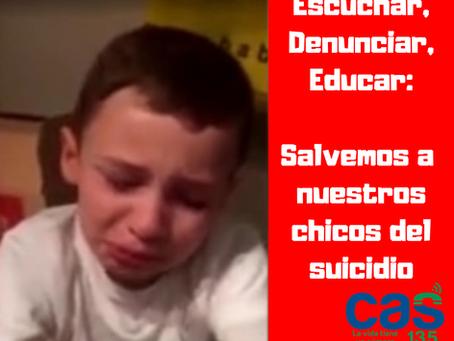 Escuchar, denunciar, educar: Salvemos a nuestros chicos del suicidio